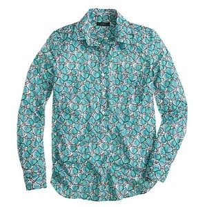 Super cute J. Crew popover in leaf print